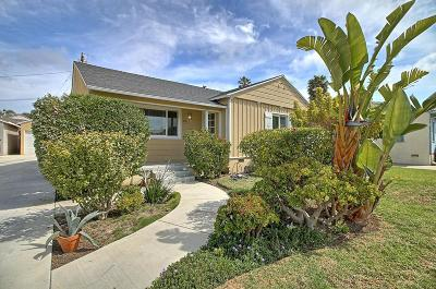 Ventura Single Family Home Active Under Contract: 3013 Channel Drive