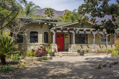 Ojai Single Family Home For Sale: 2477 Fordyce Road