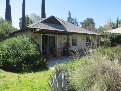 Ojai CA Single Family Home For Sale: $599,000