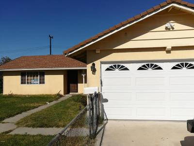 Oxnard Single Family Home For Sale: 3121 Mendocino Place