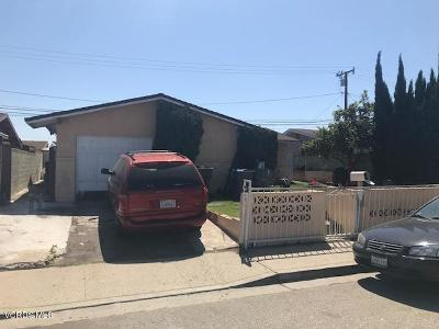 Oxnard Single Family Home Active Under Contract: 210 Balsam Street
