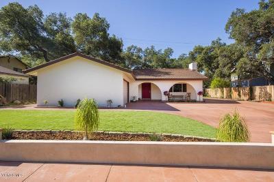 Ojai Single Family Home For Sale: 1268 Avila Drive