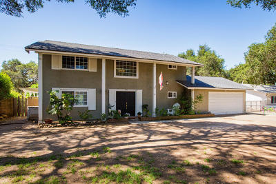 Ojai Single Family Home For Sale: 1234 Mariano Drive