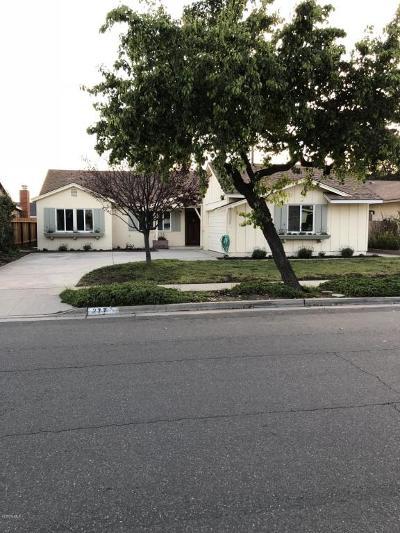 Ventura Single Family Home Active Under Contract: 277 Burl Avenue