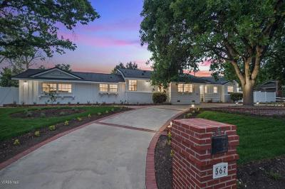 Thousand Oaks Single Family Home For Sale: 567 Rosario Drive