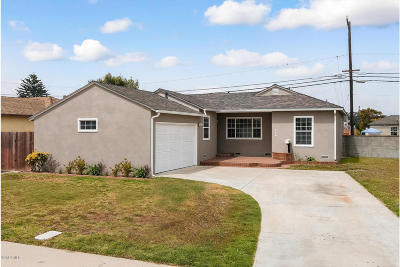 Port Hueneme Single Family Home Active Under Contract: 545 Dahl Avenue