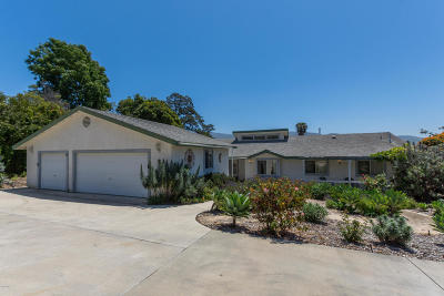 Santa Paula  Single Family Home For Sale: 742 Foothill Road