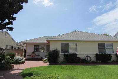 Oxnard Single Family Home For Sale: 1255 S I Street