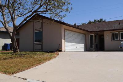 Ventura Single Family Home Active Under Contract: 1436 Clay Avenue