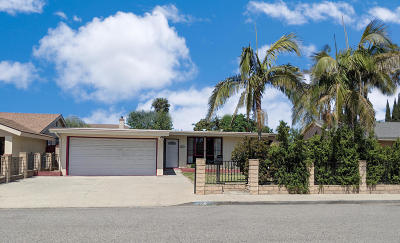 Oxnard Single Family Home For Sale: 1005 Saratoga Street