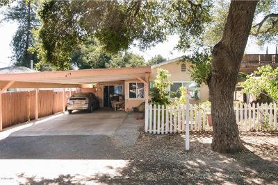 Ojai CA Single Family Home For Sale: $539,900