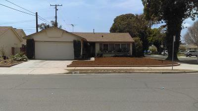 Ventura Single Family Home For Sale: 261 Burl Avenue