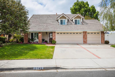 Camarillo Single Family Home Active Under Contract: 2742 Shalimar Street