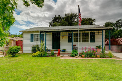 Santa Paula Single Family Home Active Under Contract: 1110 Mariposa Drive