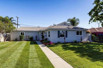 Oxnard Single Family Home For Sale: 305 E Poplar Street