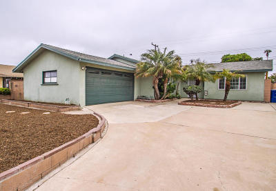 Ventura Single Family Home For Sale: 1575 Nevin Avenue