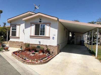 Oxnard Mobile Home Active Under Contract: 205 E Driffill Boulevard #150