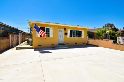 Oxnard Single Family Home Active Under Contract: 321 Roosevelt Avenue