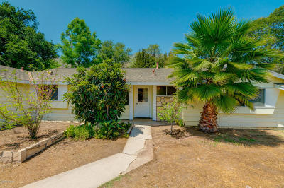 Ojai Single Family Home Active Under Contract: 530 Pleasant Avenue