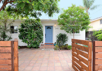 Ojai Single Family Home Active Under Contract: 245 Lomita Avenue