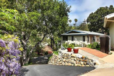 Santa Barbara Single Family Home For Sale: 3850 Crescent Drive #B