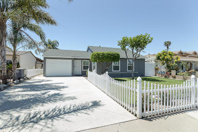 Oxnard Single Family Home Active Under Contract: 1431 Valley Park Drive