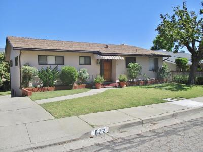 Santa Paula Single Family Home For Sale: 972 La Vuelta Place