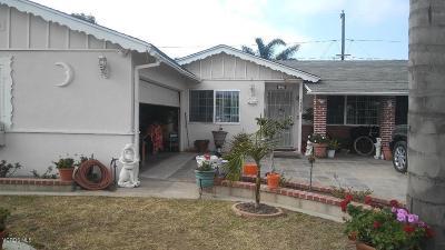Oxnard Single Family Home For Sale: 1235 W Poplar Street