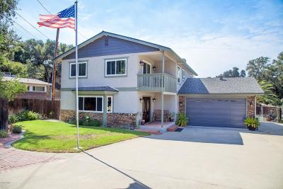 Oak View CA Single Family Home For Sale: $685,000