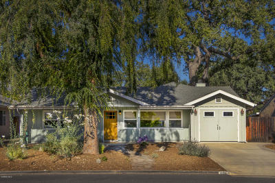 Ojai Single Family Home Active Under Contract: 606 Shady Lane
