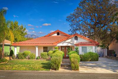 Ojai Single Family Home For Sale: 308 Shady Lane