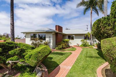 Ventura Single Family Home Active Under Contract: 317 Carol Drive