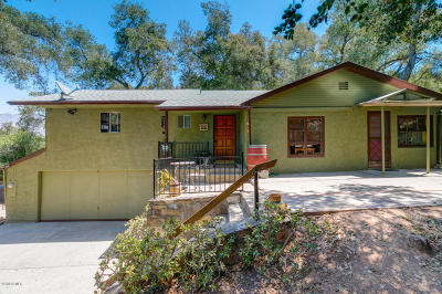 Ojai Single Family Home For Sale: 1436 Orchard Drive