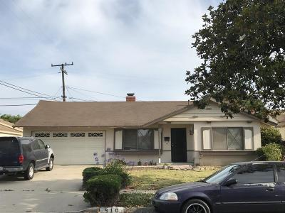 Oxnard Single Family Home For Sale: 910 Camellia Street