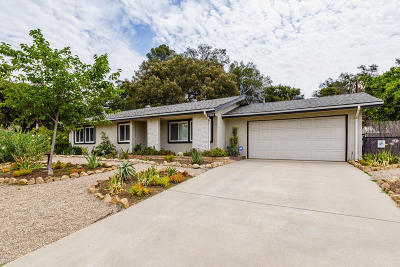 Ojai CA Single Family Home Active Under Contract: $599,950