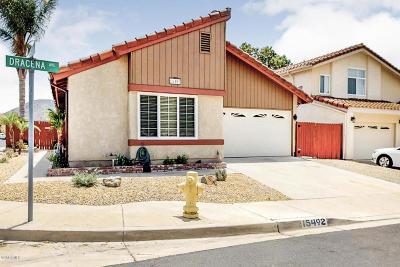 Moorpark Single Family Home For Sale: 15492 Dracena Avenue