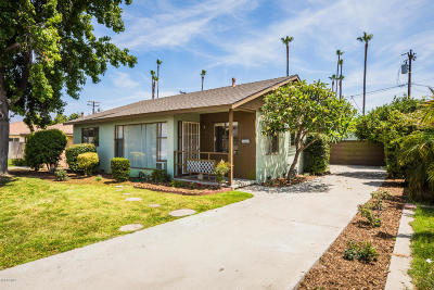 Santa Paula Single Family Home For Sale: 321 Craig Drive