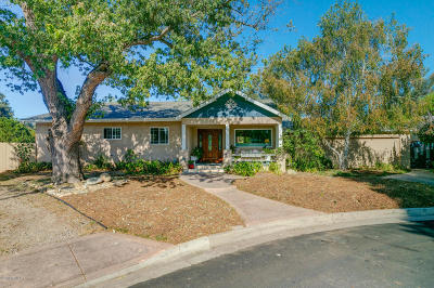 Ojai Single Family Home For Sale: 715 Sunset Place