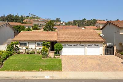 Ventura County Single Family Home For Sale: 535 Corte Colina