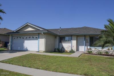 Ventura Single Family Home For Sale: 1764 Shannon Avenue