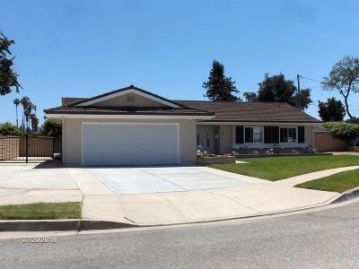 Camarillo Single Family Home For Sale: 1941 Dwight Avenue