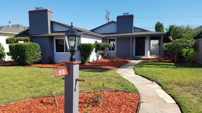 Oxnard Single Family Home For Sale: 310 W Roderick Avenue