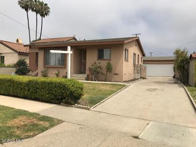 Ventura Single Family Home Active Under Contract: 3091 Channel Drive