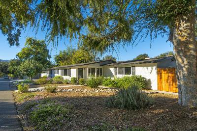 Ojai Single Family Home For Sale: 413 Buena Vista Drive