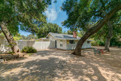 Ojai Single Family Home For Sale: 142 Alvarado Street