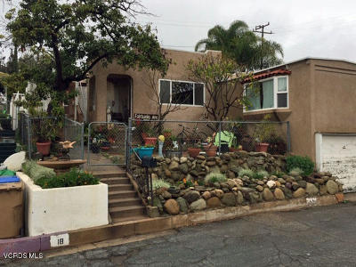 Santa Paula  Single Family Home For Sale: 18 Palm Court