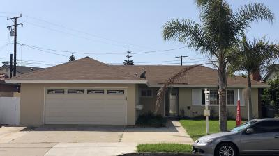 Oxnard Single Family Home Active Under Contract: 630 Oleander Drive