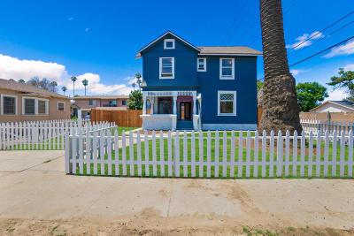 Oxnard Single Family Home For Sale: 119 S B Street