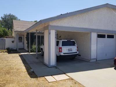 Camarillo Single Family Home For Sale: 776 Hacienda Drive