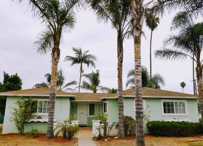Oxnard Single Family Home Active Under Contract: 3128 Kern Street